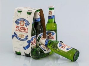 Christmas Party Perils for Employers -  bottles of Peroni